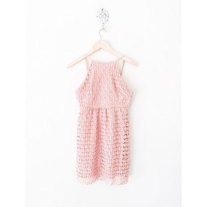 new✨ romeo juliet couture pink crochet mini dress